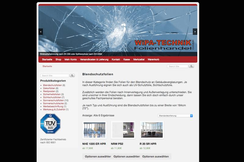 WiPA Technik GmbH Folien Onlineshop